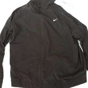 Nike zip up jacket black white